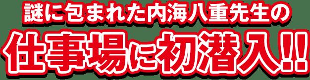 謎に包まれた内海八重先生の仕事場に初潜入!!